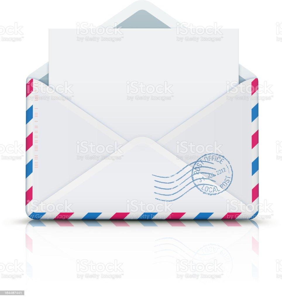 airmail envelope vector art illustration