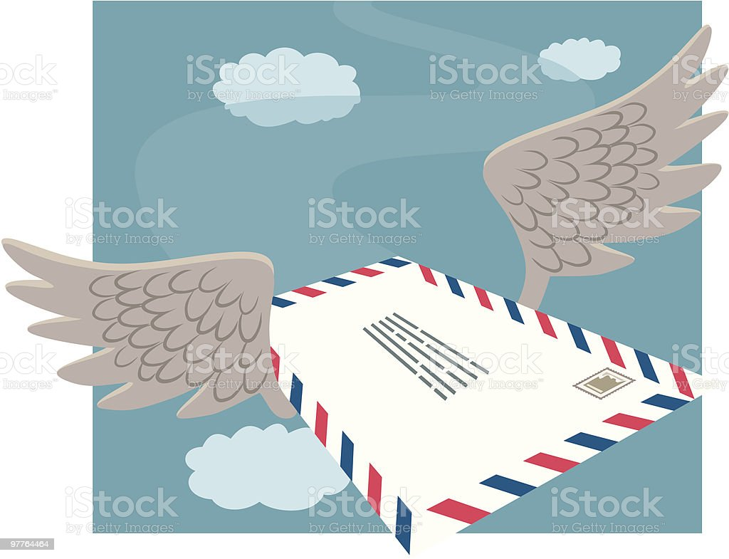 Airmail vector art illustration