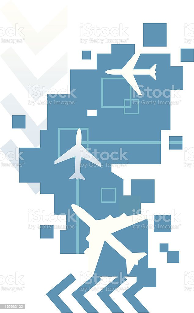 Airplane abstract blue design background royalty-free stock vector art