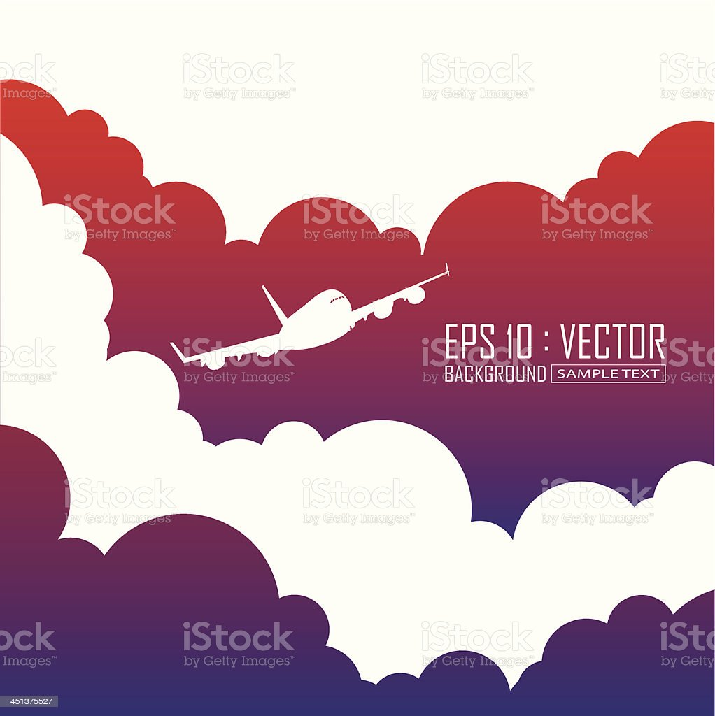 airplane background vector art illustration