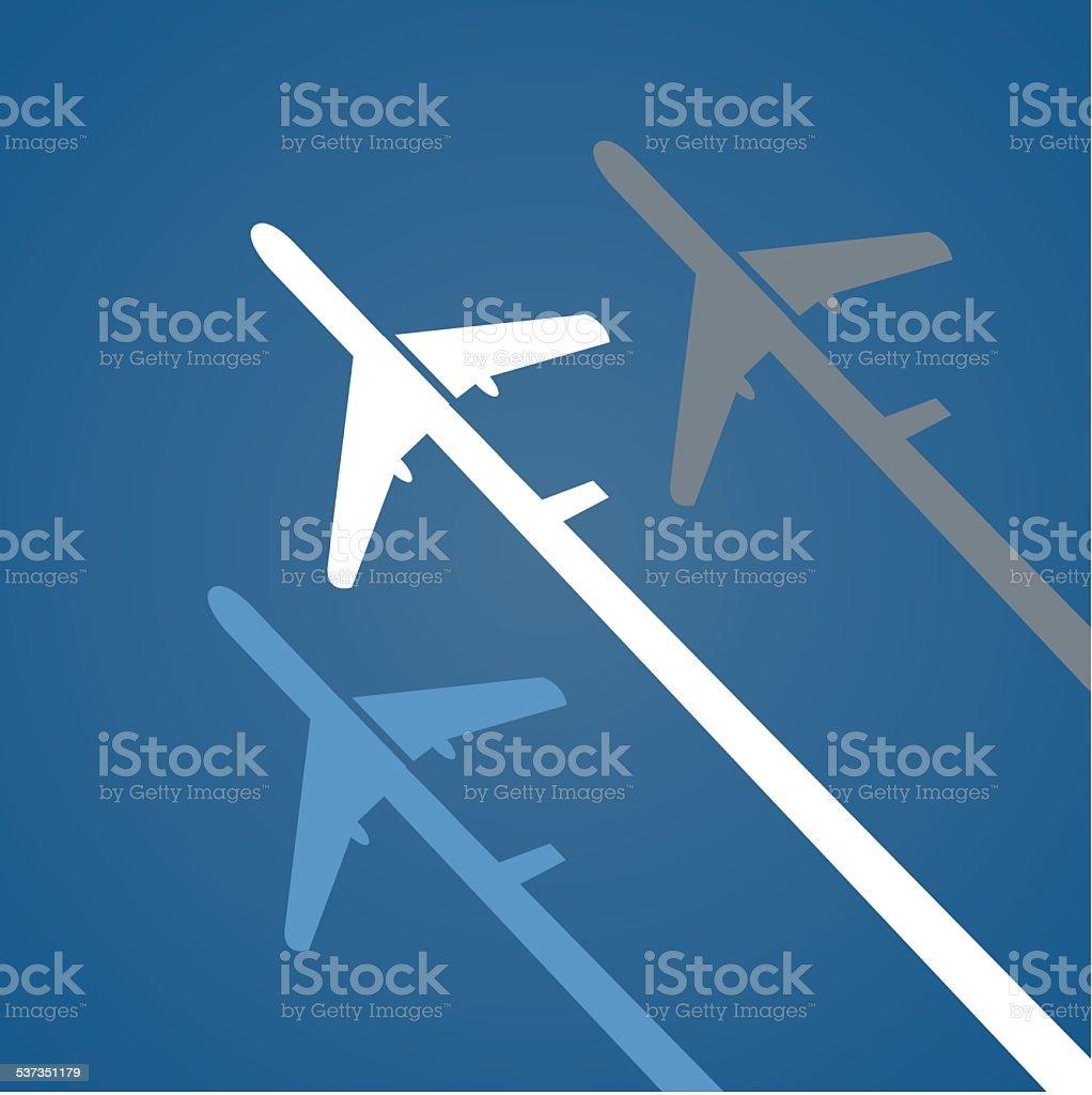 Airplane creative poster. vector art illustration