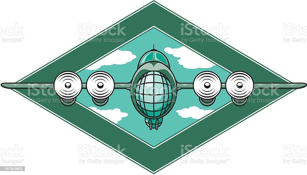 Airplane Emblem royalty-free stock vector art