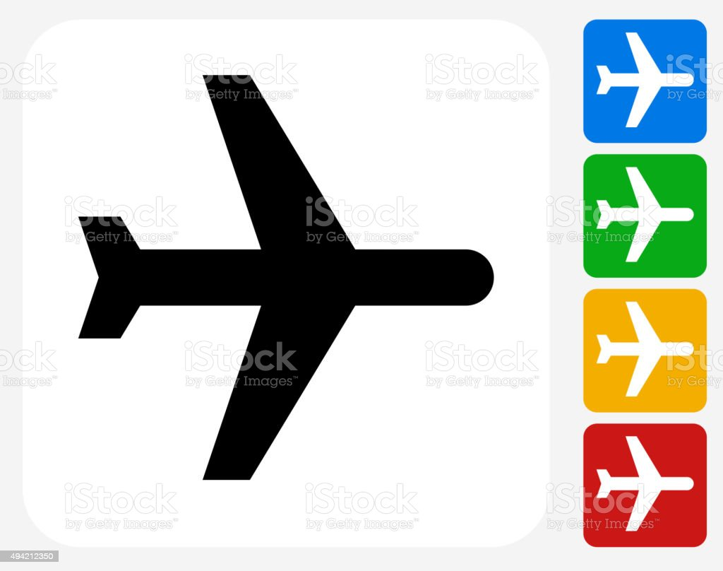 Airplane Icon Flat Graphic Design vector art illustration