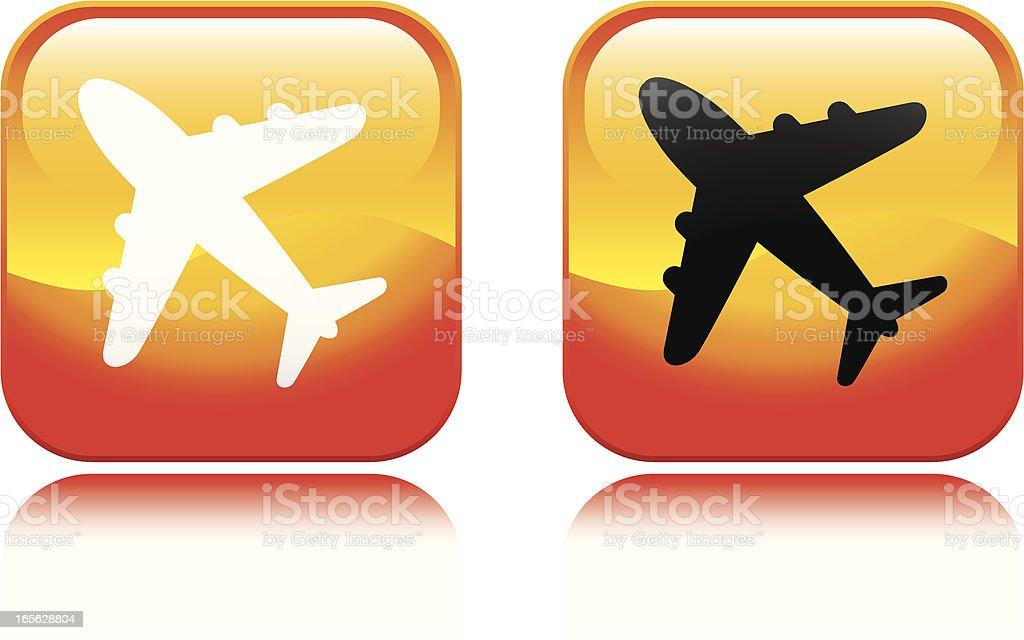 Airplane Icon royalty-free stock vector art