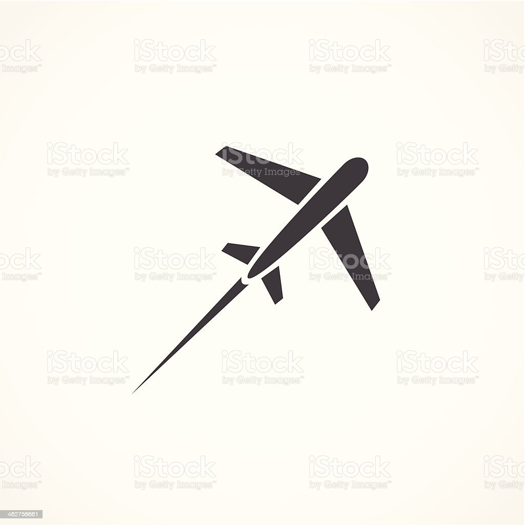 Airplane icon vector art illustration