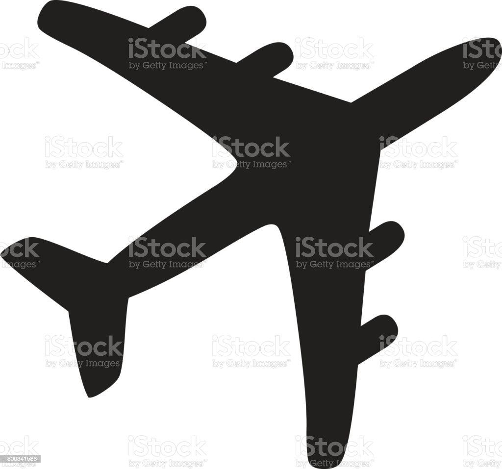 Airplane Icon vector art illustration