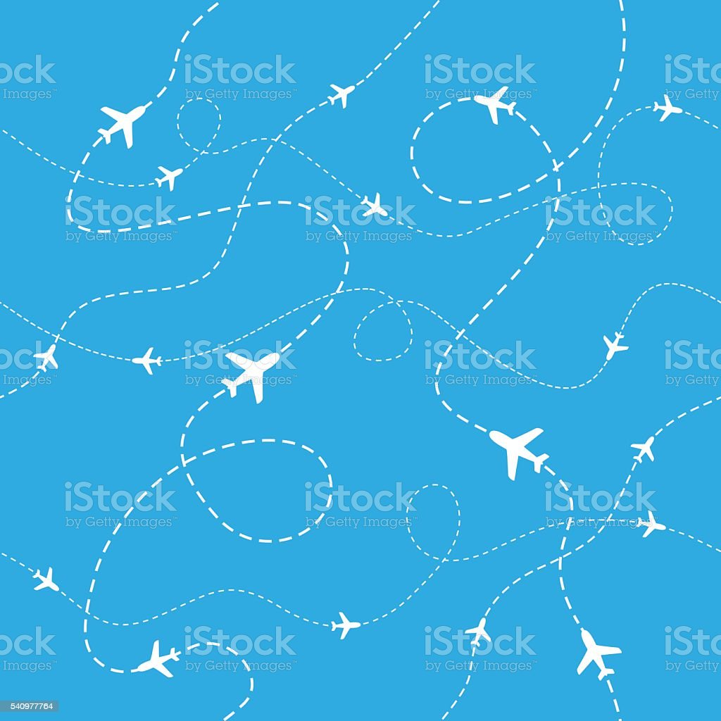 Airplane Pattern - Seamless - Illustration vector art illustration