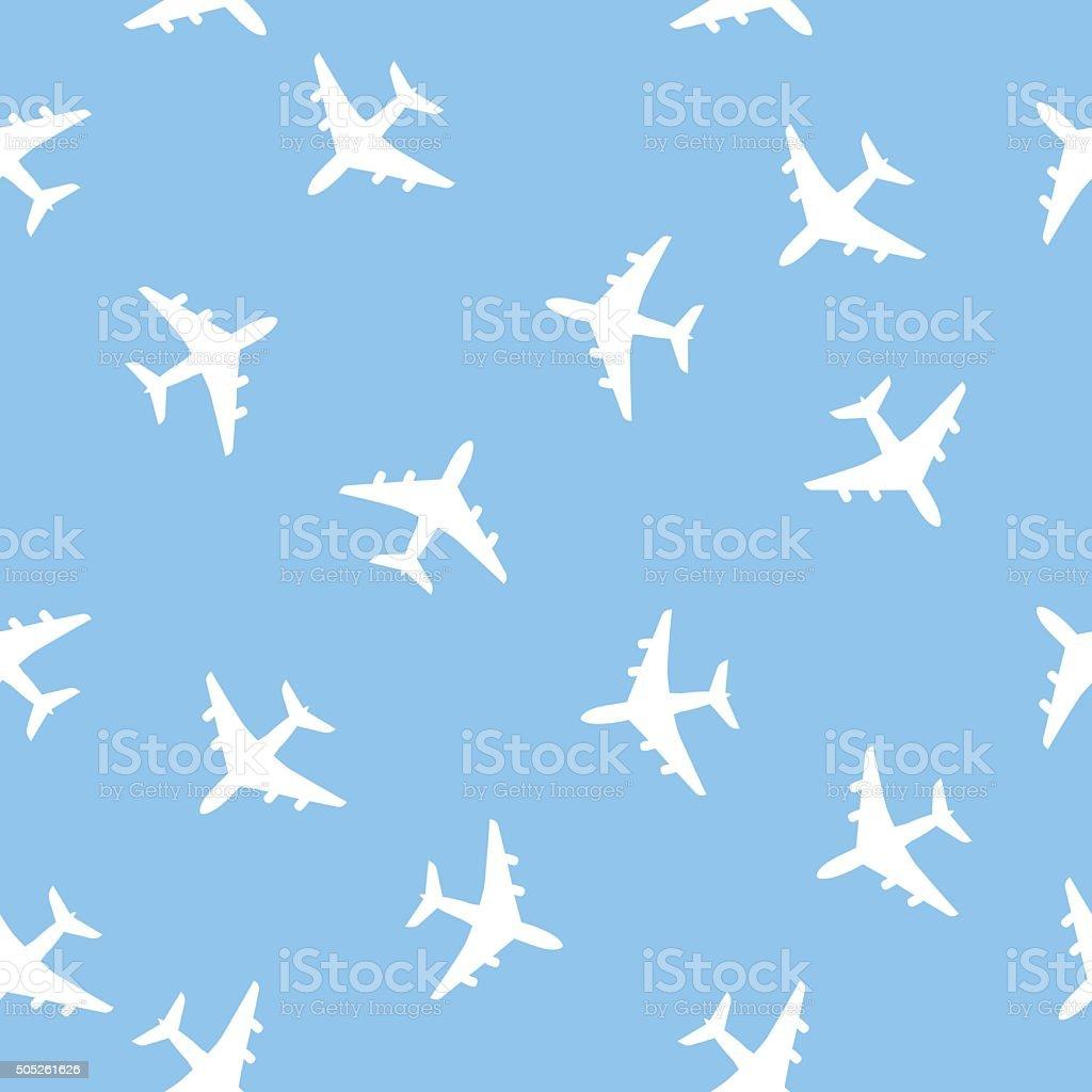 Airplane Pattern vector art illustration