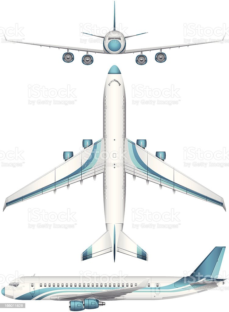 Airplane Set royalty-free stock vector art