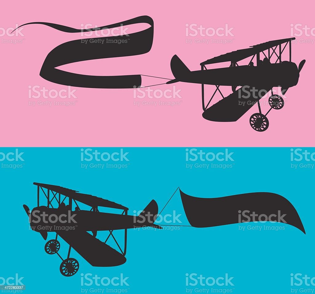 Airplane silhouettes royalty-free stock vector art