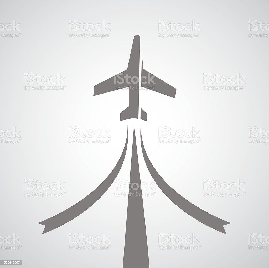 airplane symbol vector art illustration