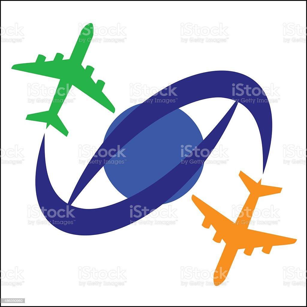 Airplane Travel Symbol royalty-free stock vector art