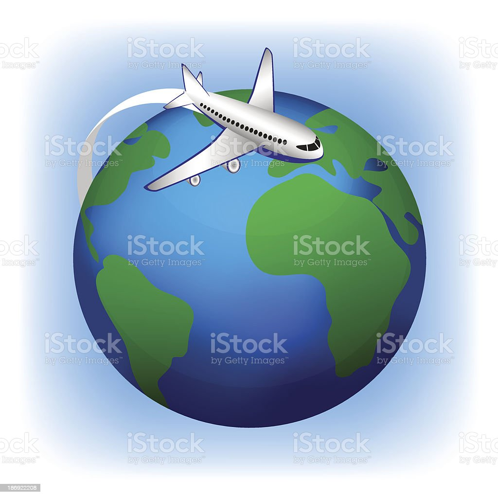Airplane Travel, vector icon royalty-free stock vector art