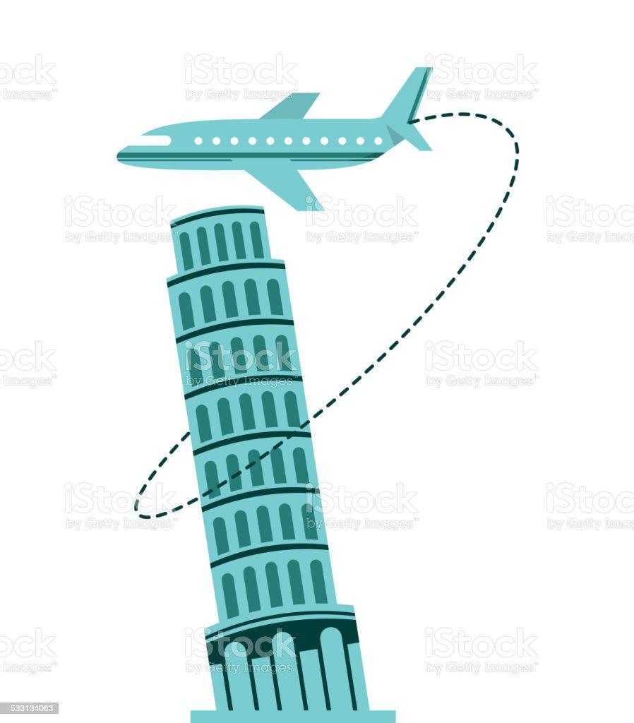 airplane travel vector art illustration