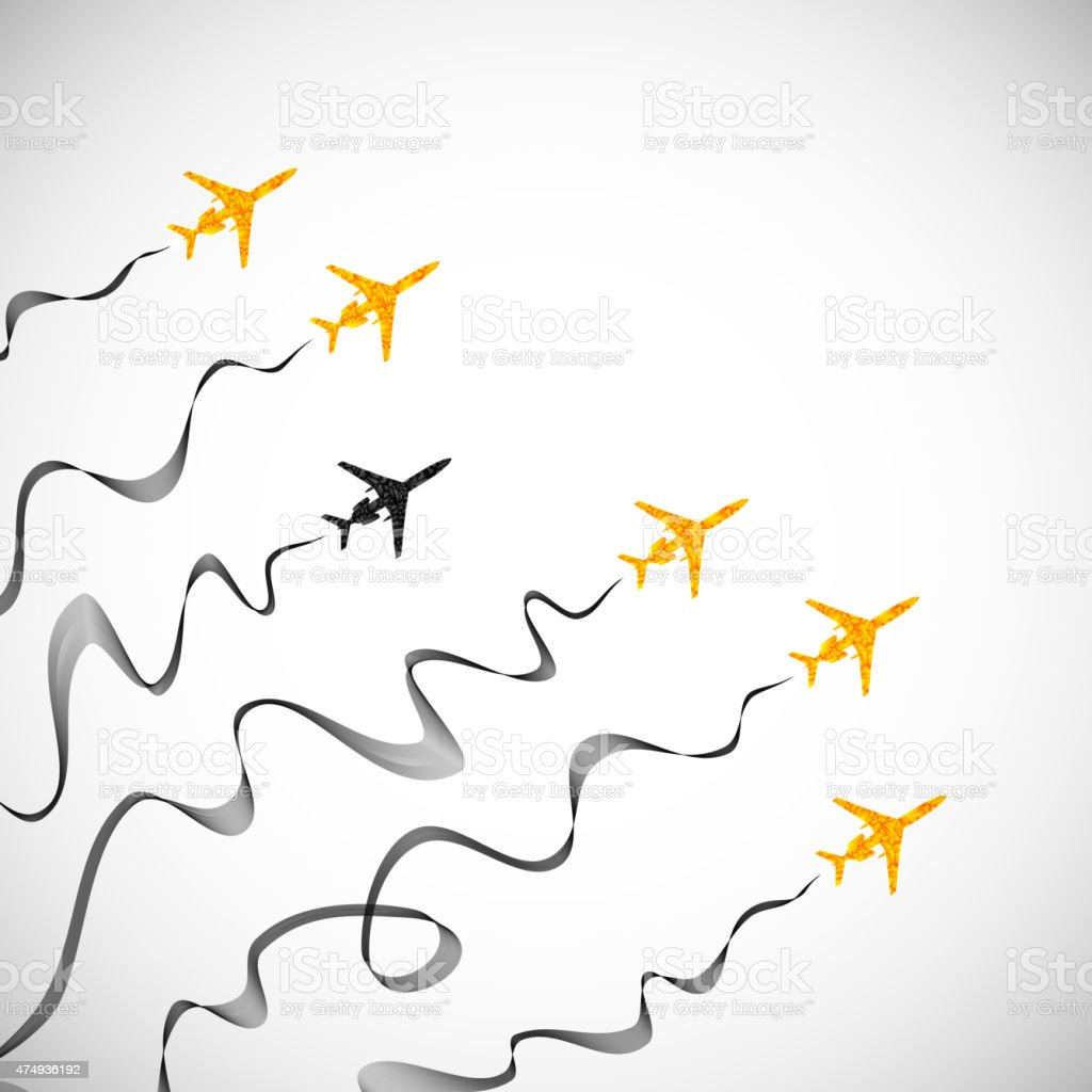 airplane, vector abstract background vector art illustration