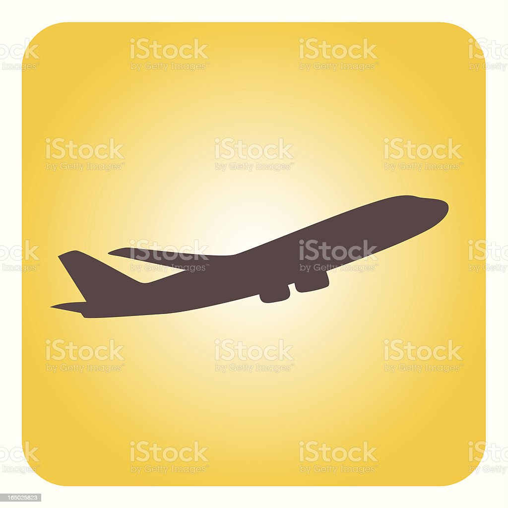 Airplane vector art illustration