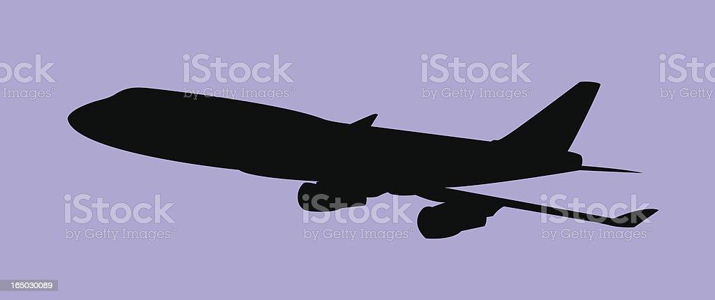 Airplane (Vector) vector art illustration