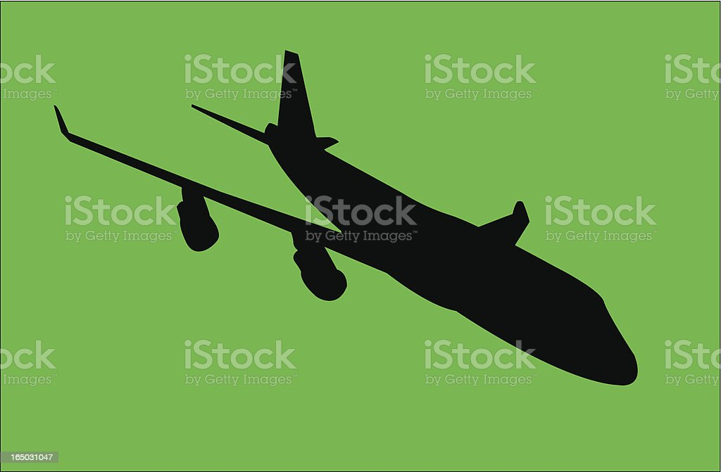 Airplane (Vector) vector art illustration