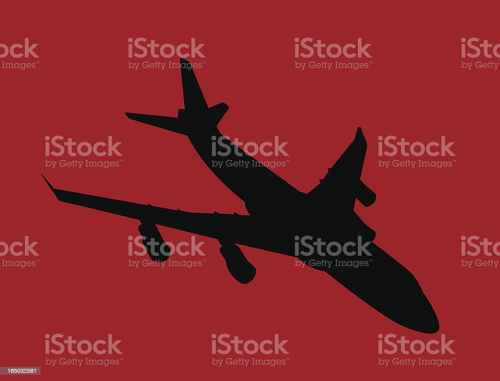 Airplane ( Vector ) vector art illustration