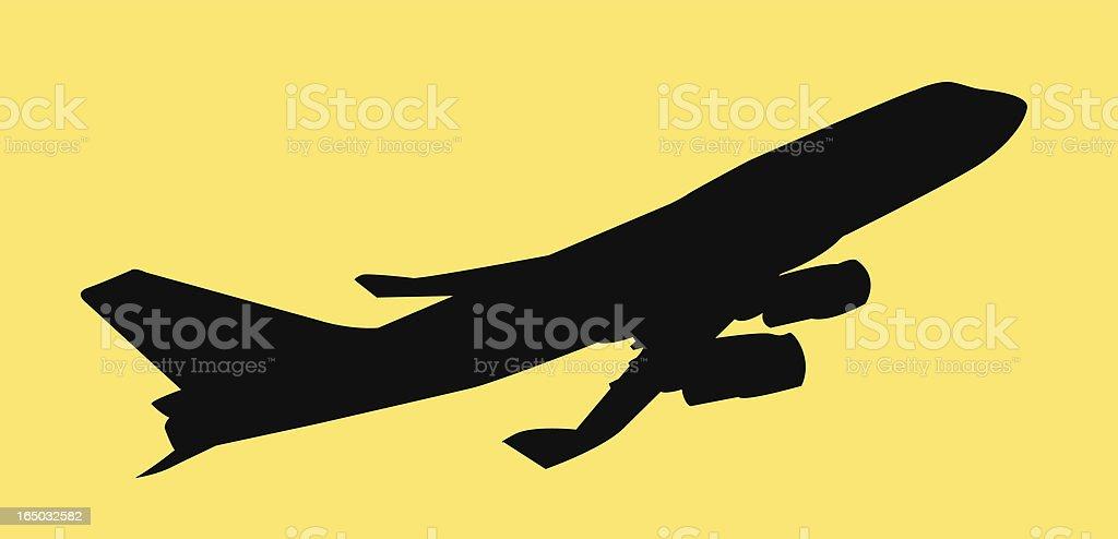 Airplane (Vector) royalty-free stock vector art