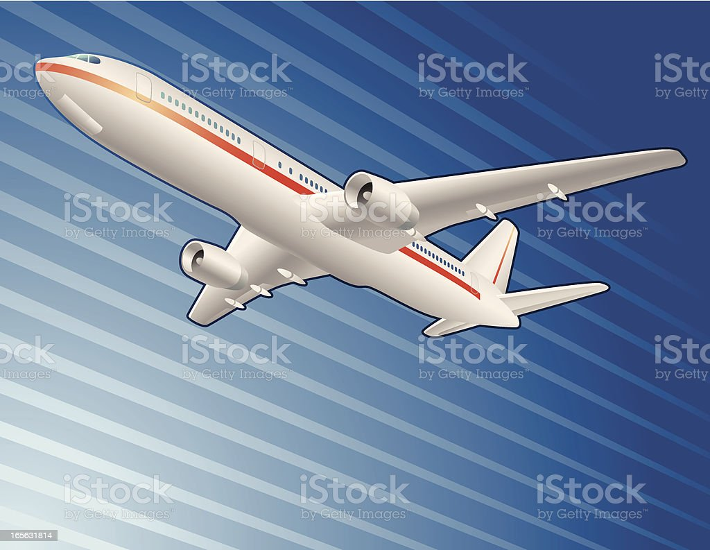 Airplane. royalty-free stock vector art
