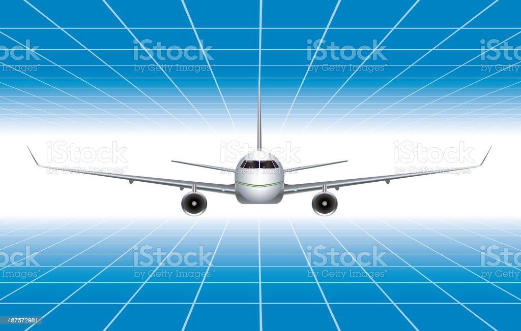 Airplane vector art illustration