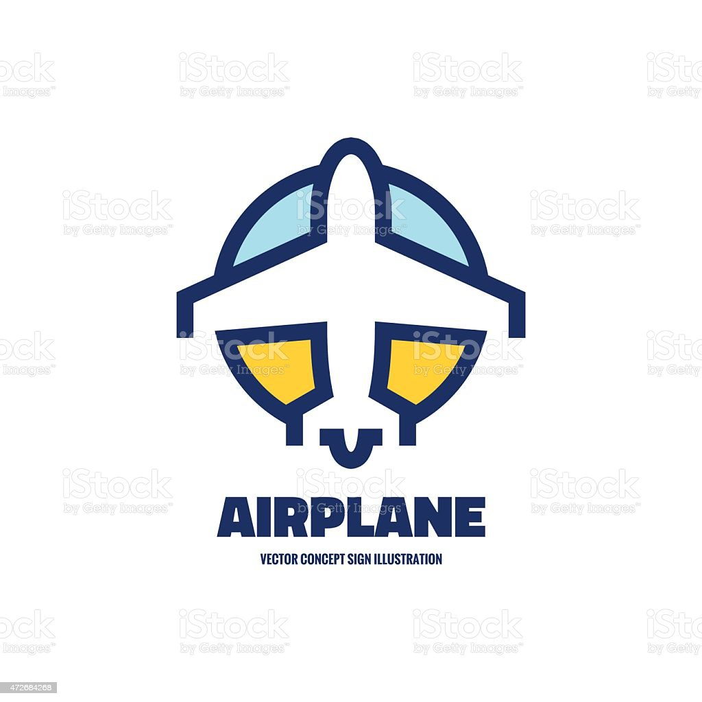 Airplane - vector logo concept illustration. vector art illustration