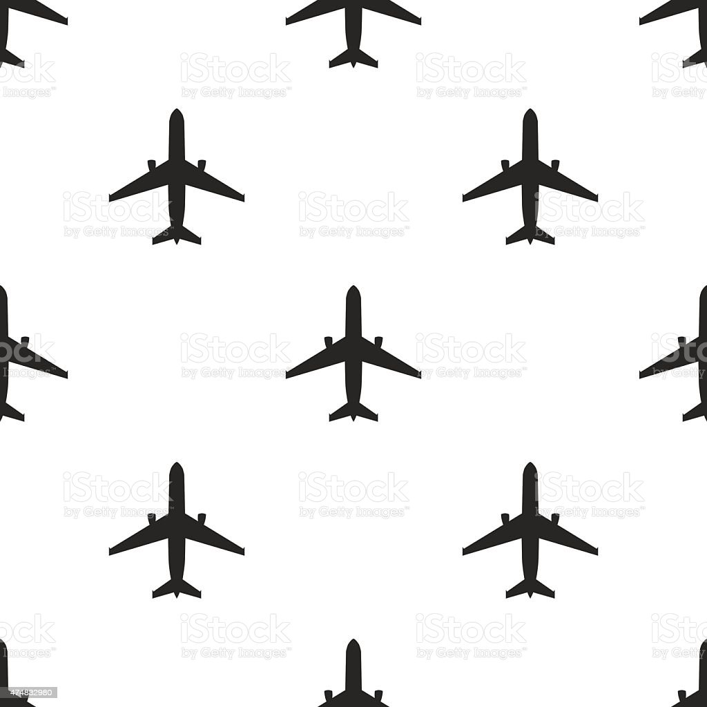 airplane, vector seamless pattern vector art illustration