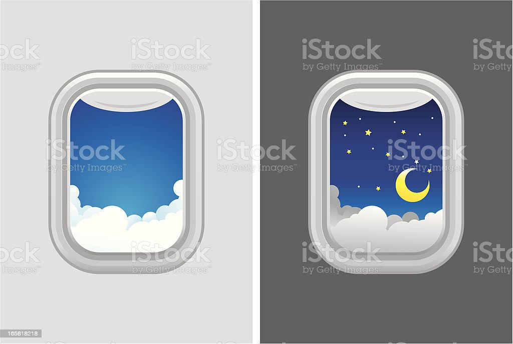 Airplane window royalty-free stock vector art