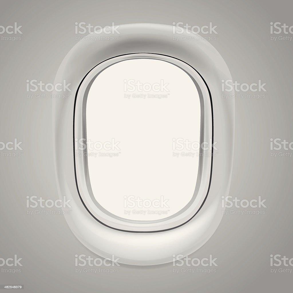 Airplane window vector art illustration