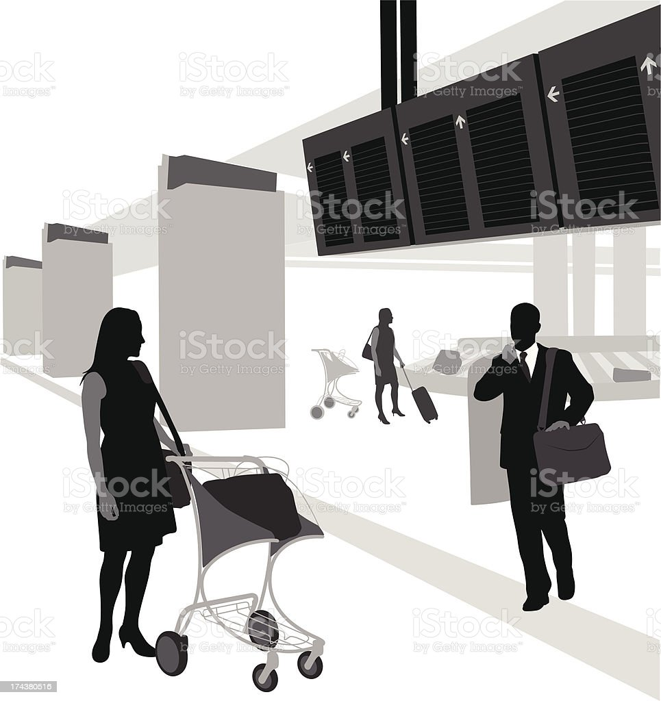 Airport Arrivals royalty-free stock vector art