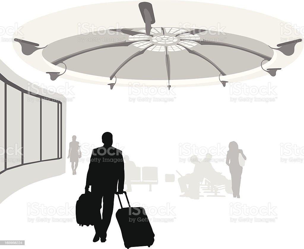 Airport Decor Vector Silhouette royalty-free stock vector art