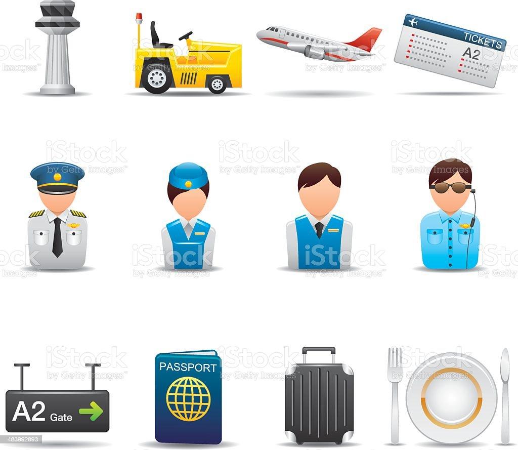Airport Icon Set | Elegant Series vector art illustration