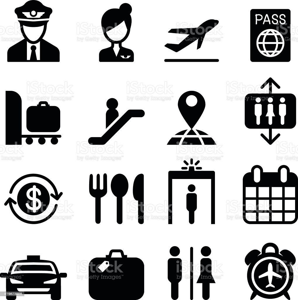 Airport icon vector art illustration