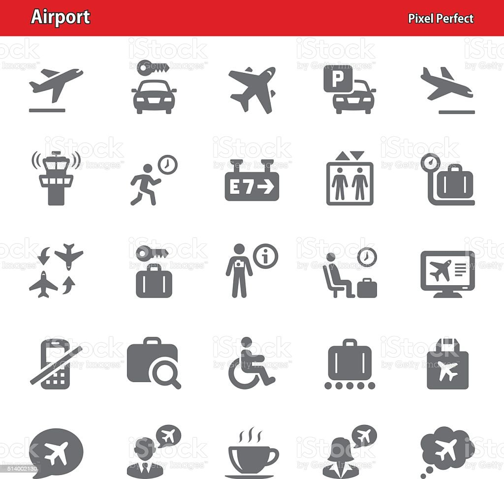 Airport Icons - Set 4 vector art illustration