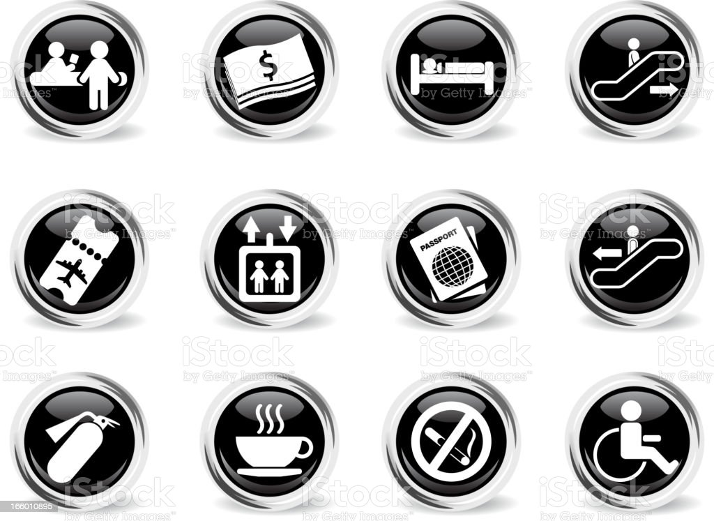 Airport icons royalty-free stock vector art