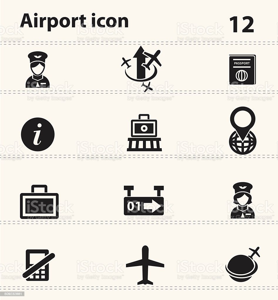 Airport icons,vector vector art illustration