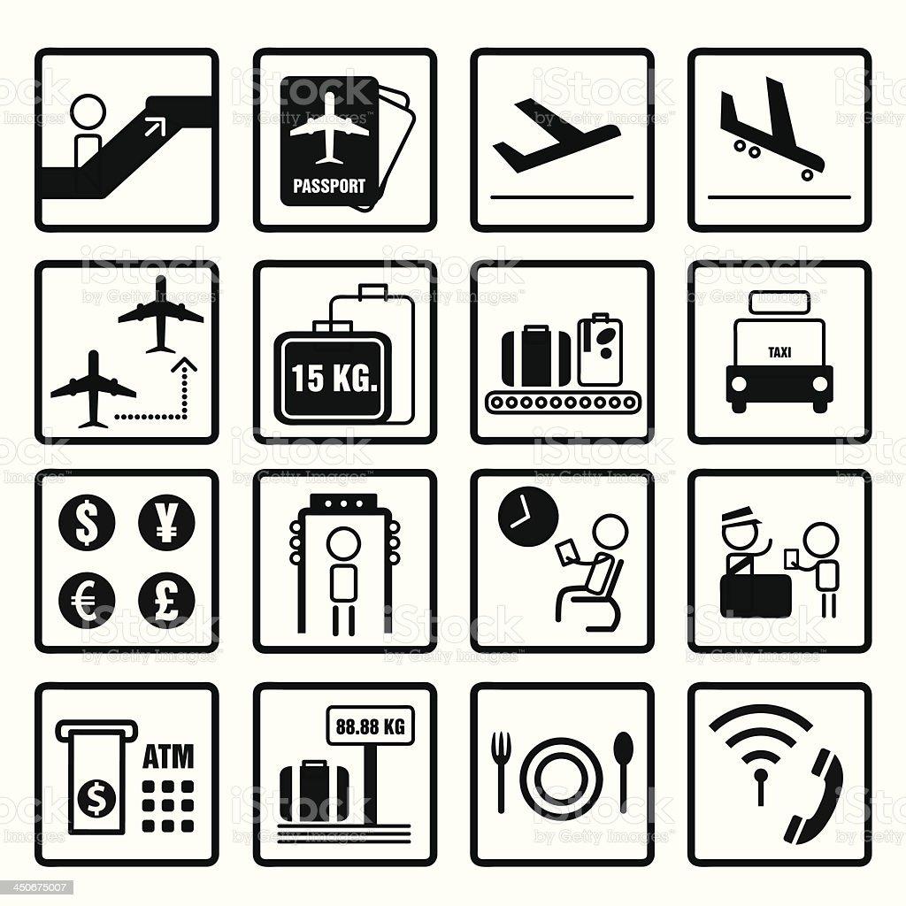airport Information Sign design set royalty-free stock vector art