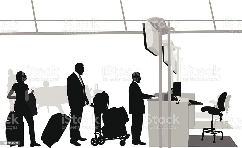 Airport Lines Vector Silhouette vector art illustration
