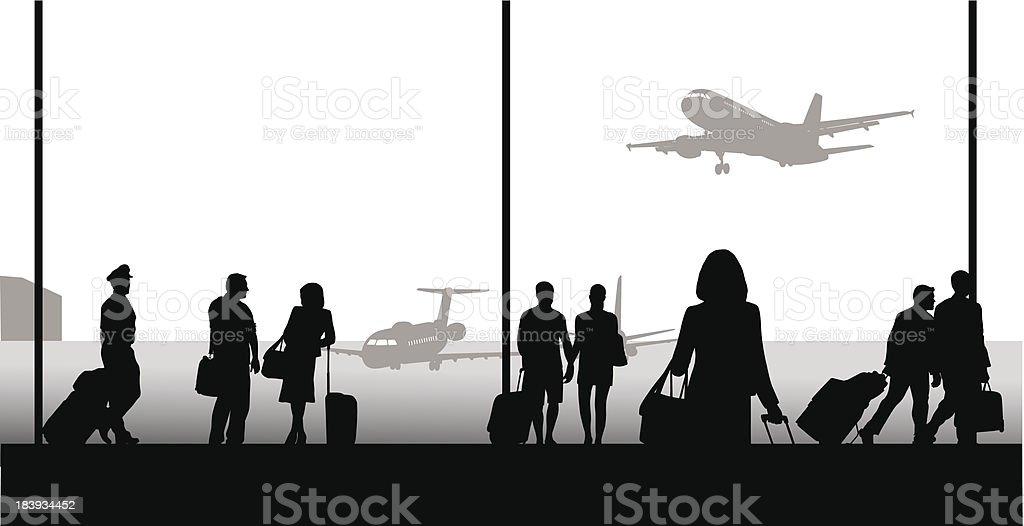 Airport Lives vector art illustration