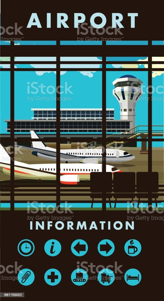airport lounge vector vector art illustration