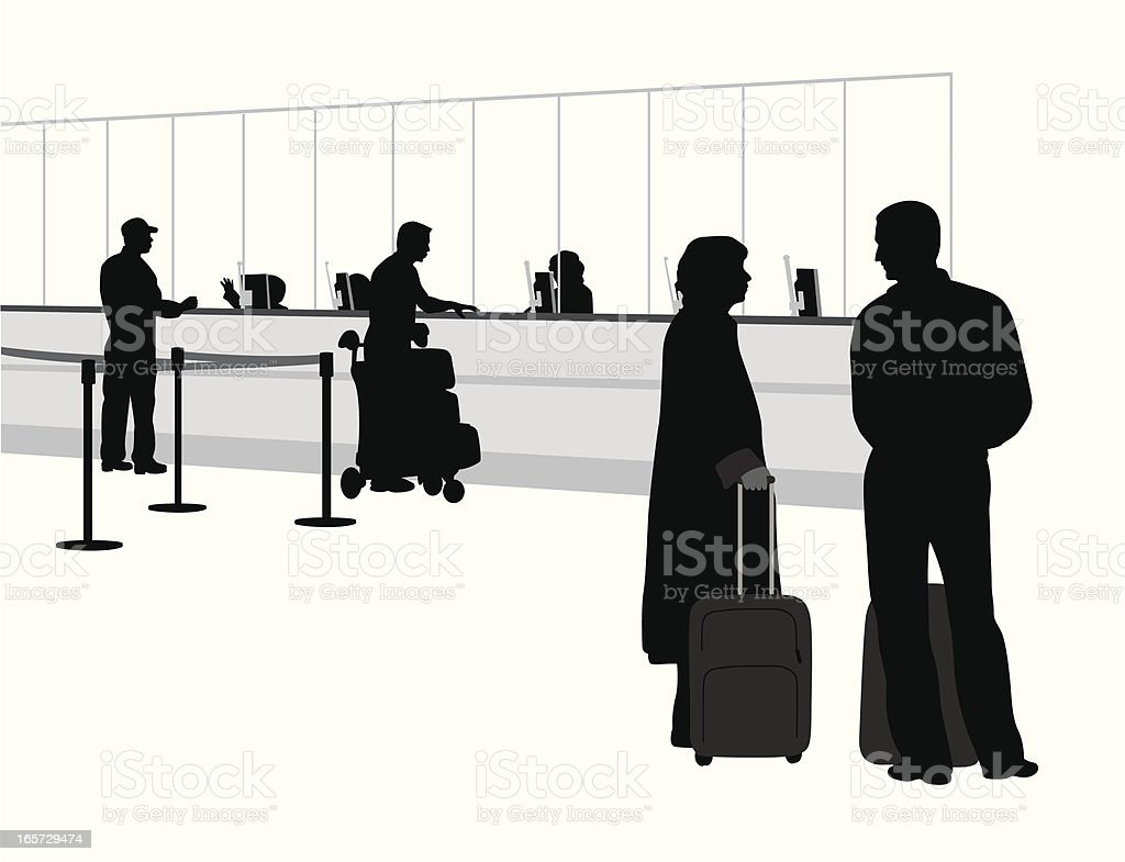 Airport Luggage Vector Silhouette royalty-free stock vector art