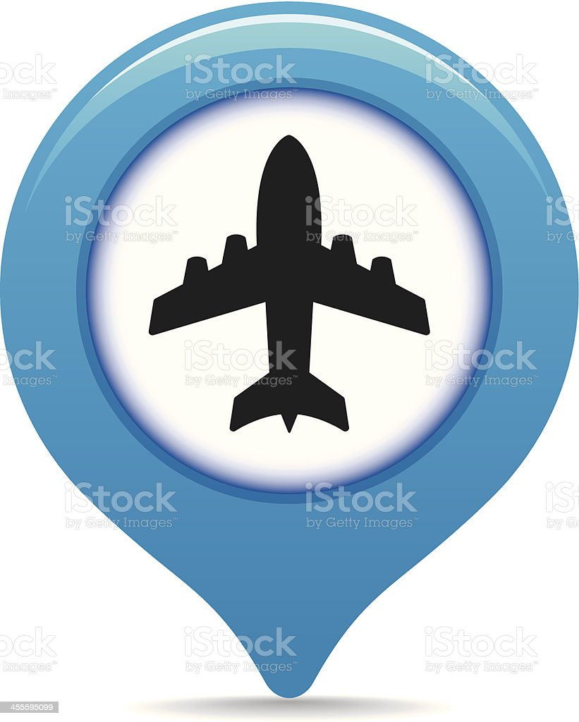 Airport map pointer royalty-free stock vector art