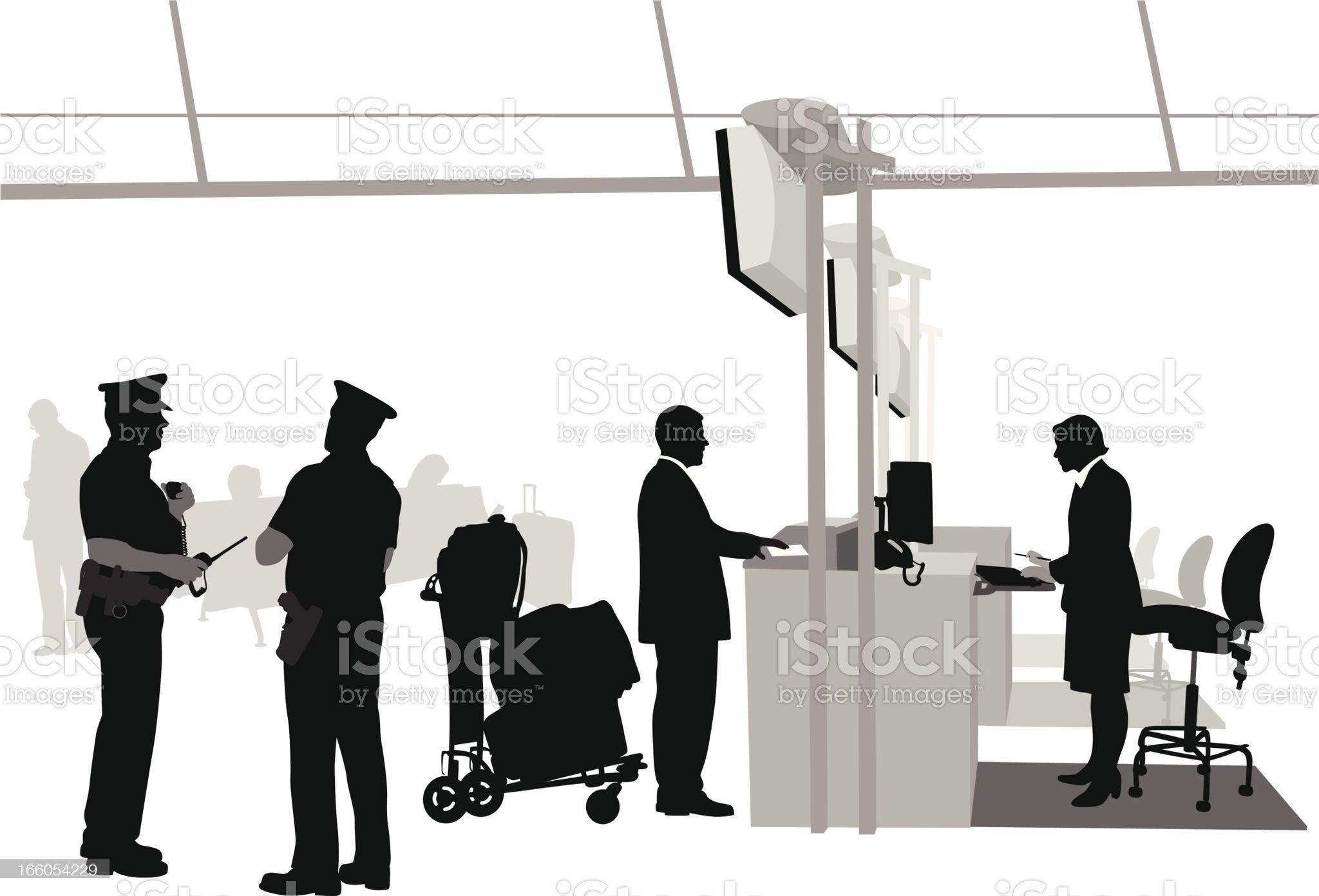 Airport Policing royalty-free stock vector art