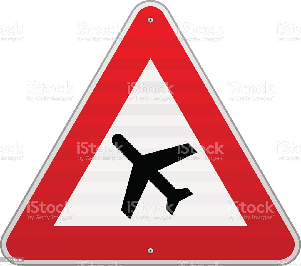 Airport Road Sign vector art illustration