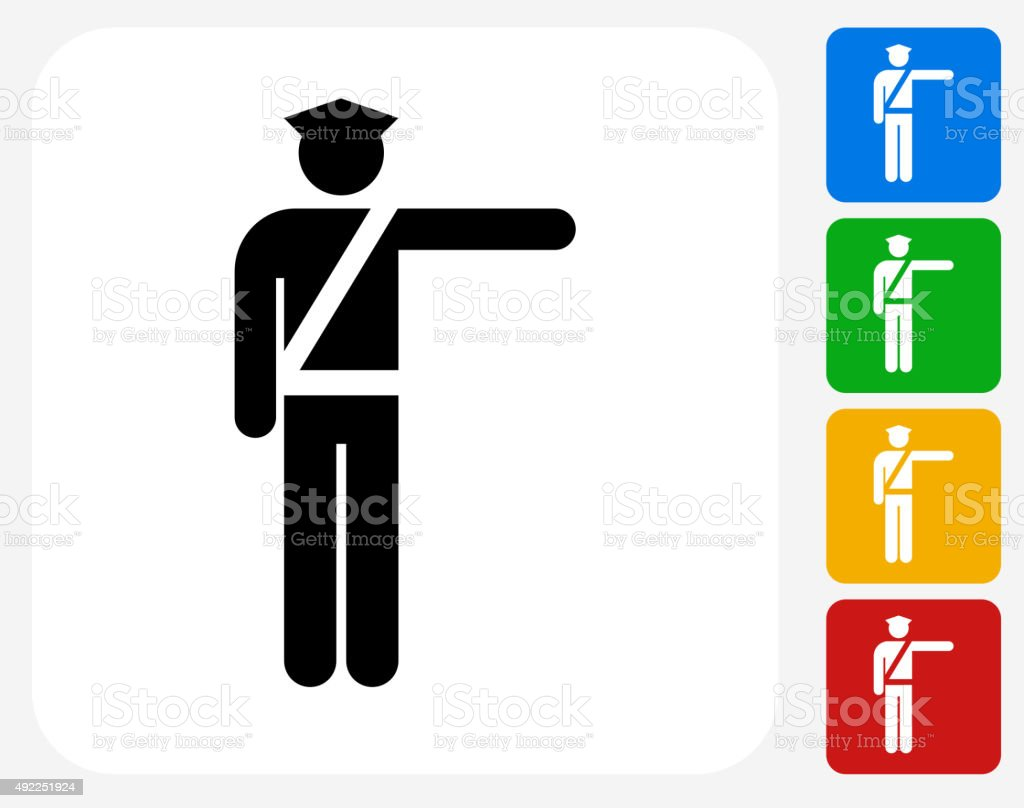 Airport Security Icon Flat Graphic Design vector art illustration