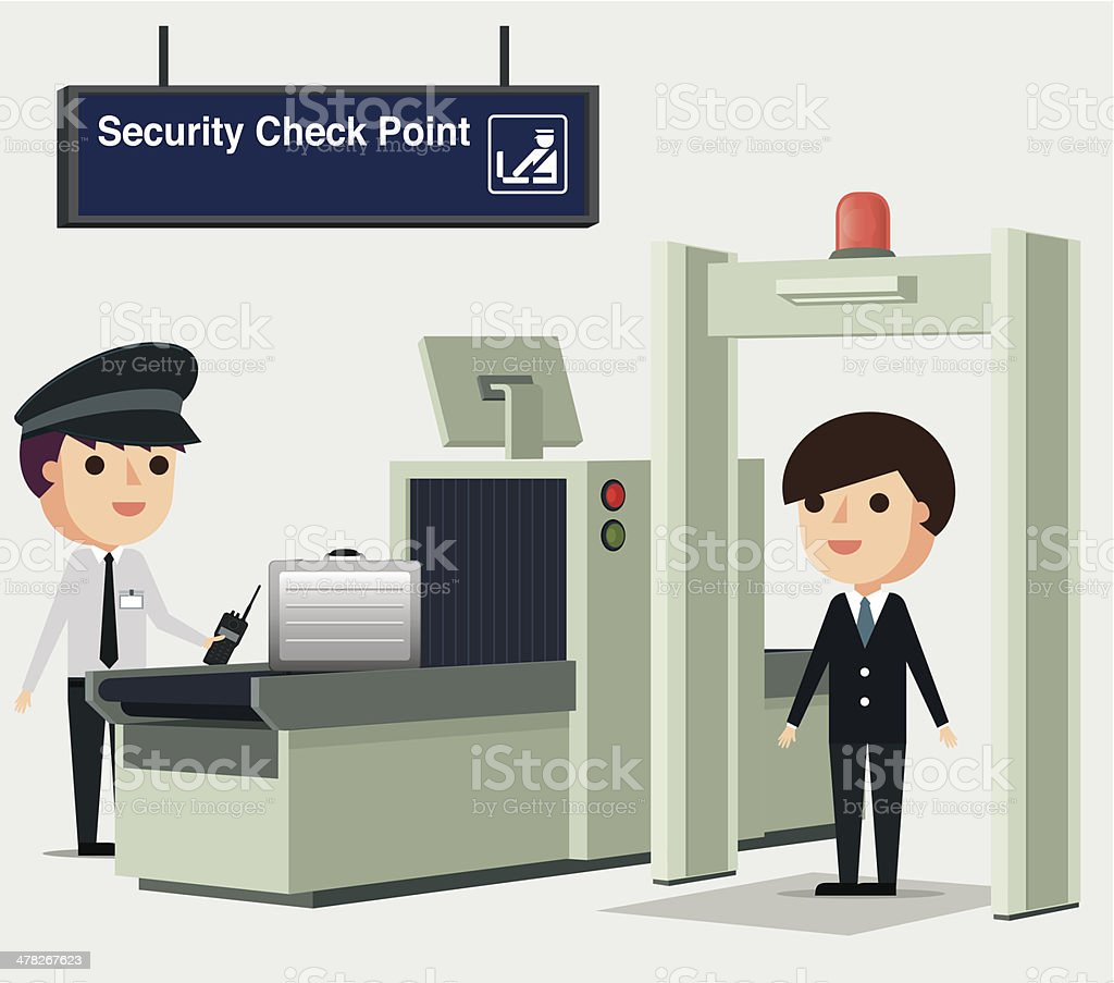 Airport Security - Illustration royalty-free stock vector art