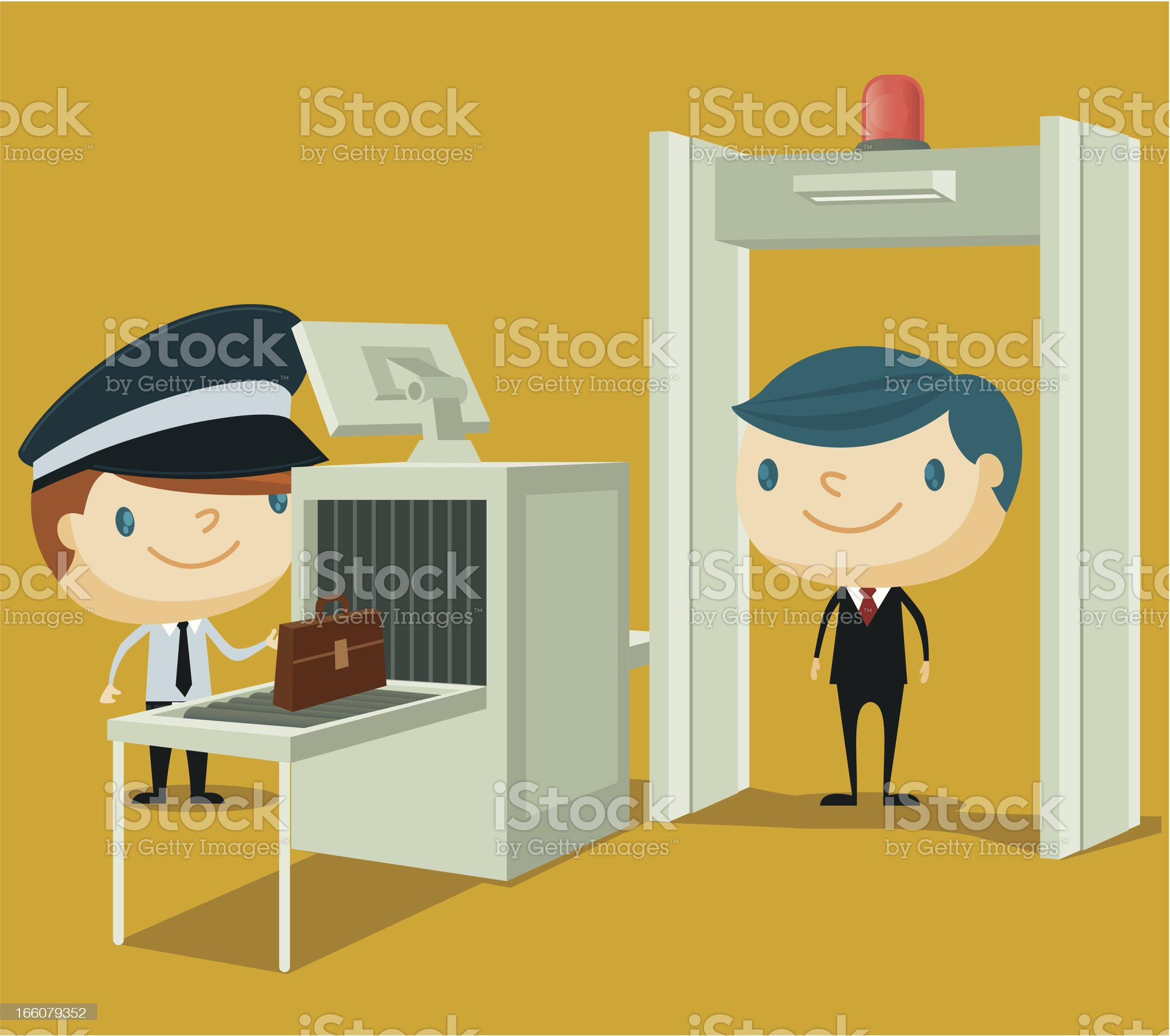 Airport Security royalty-free stock vector art