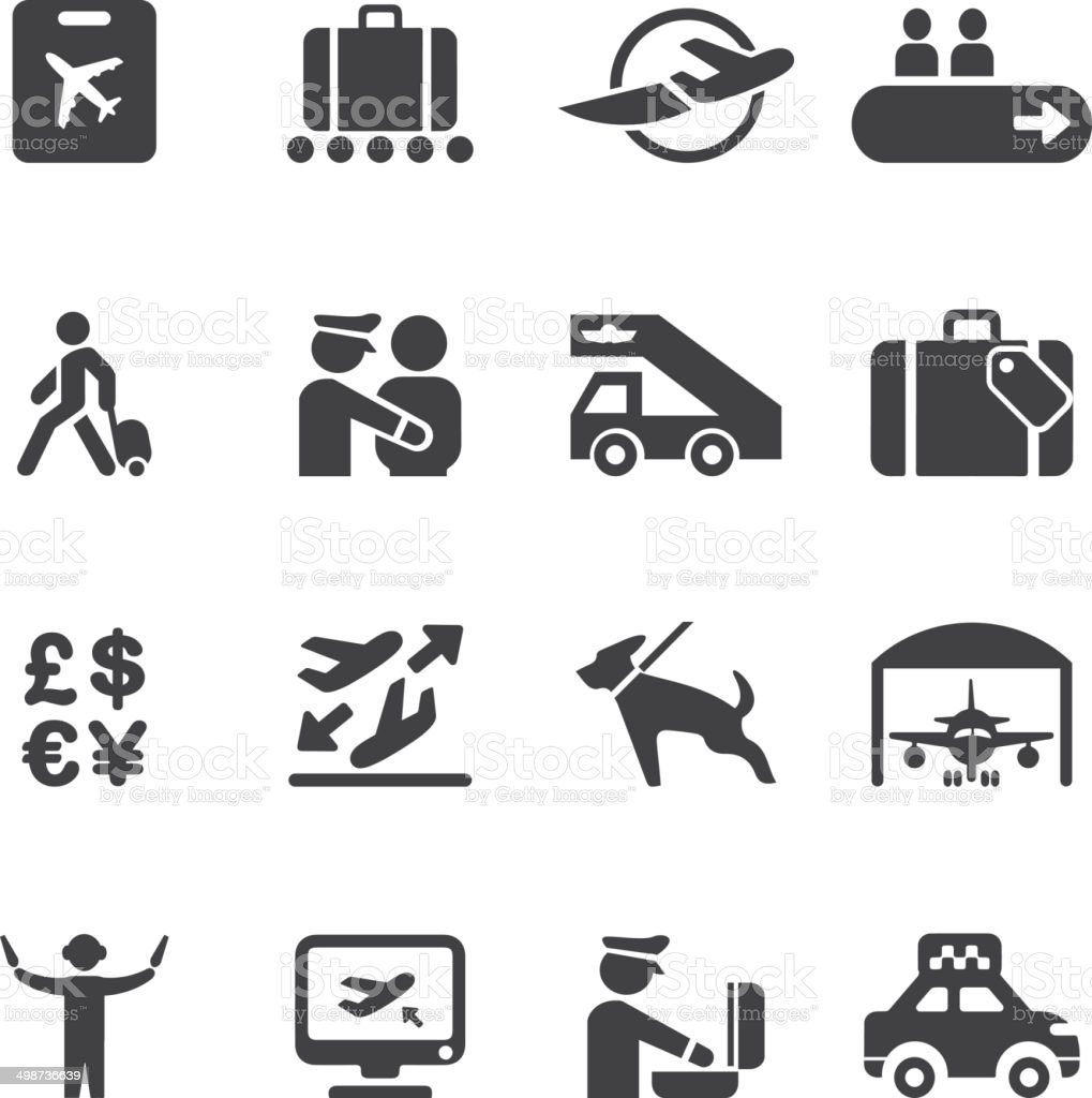 Airport Silhouette icons 2 | EPS10 vector art illustration