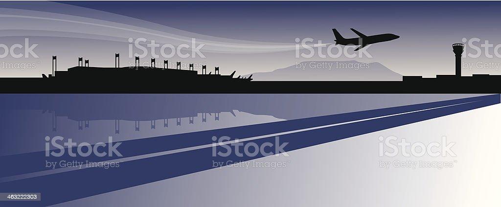 Airport Skyline vector art illustration